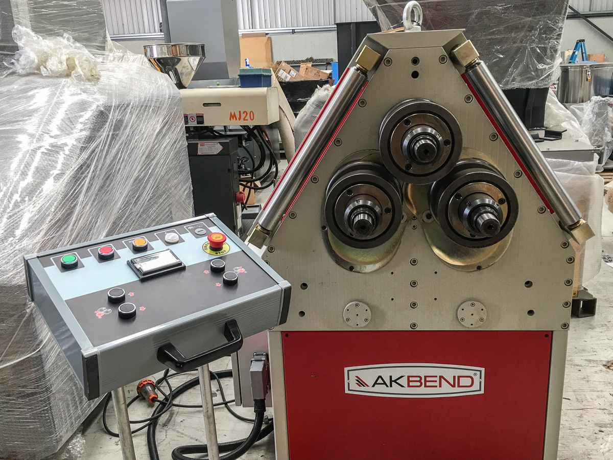 Akyapak Apk 61 Section Amp Pipe Rolling Machine Applied
