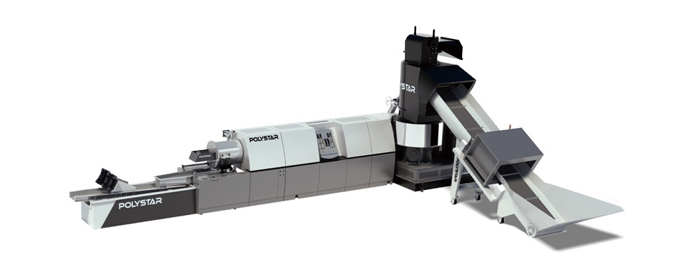 POLYSTAR REPRO-FLEX 85 PLASTIC RECYCLING MACHINE