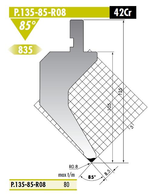 ROLLERI RT PS.135.85.R08 F