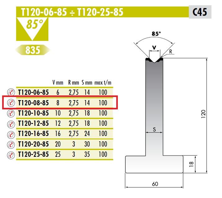 ROLLERI RT T.120.08.85 F