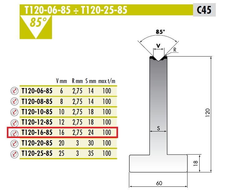 ROLLERI RT T.120.16.85 C