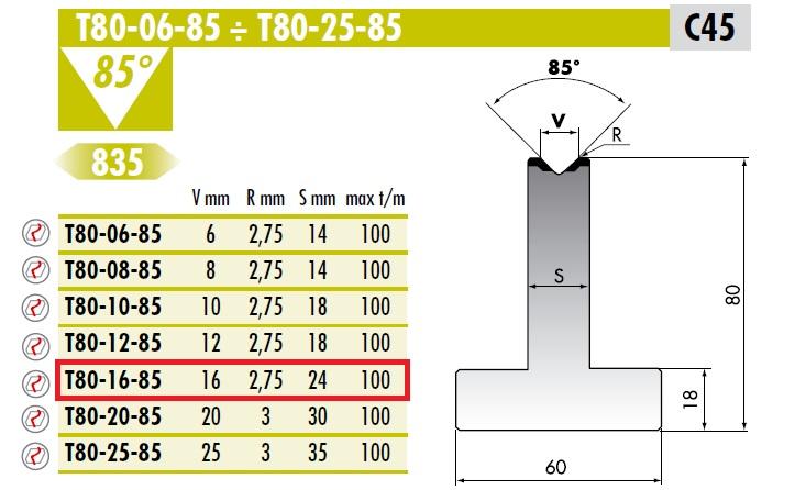 ROLLERI RT T.80.16.85