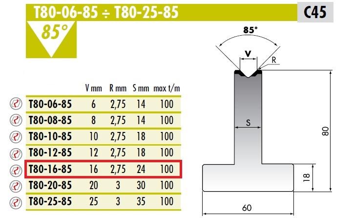 ROLLERI RT T.80.16.85 C