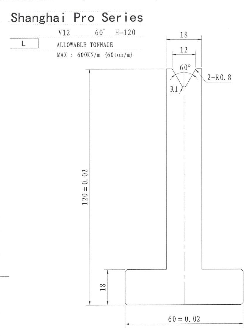 SHANGHAI PRO LM PILLAR 120 X 12 X 60 SEGMENTED