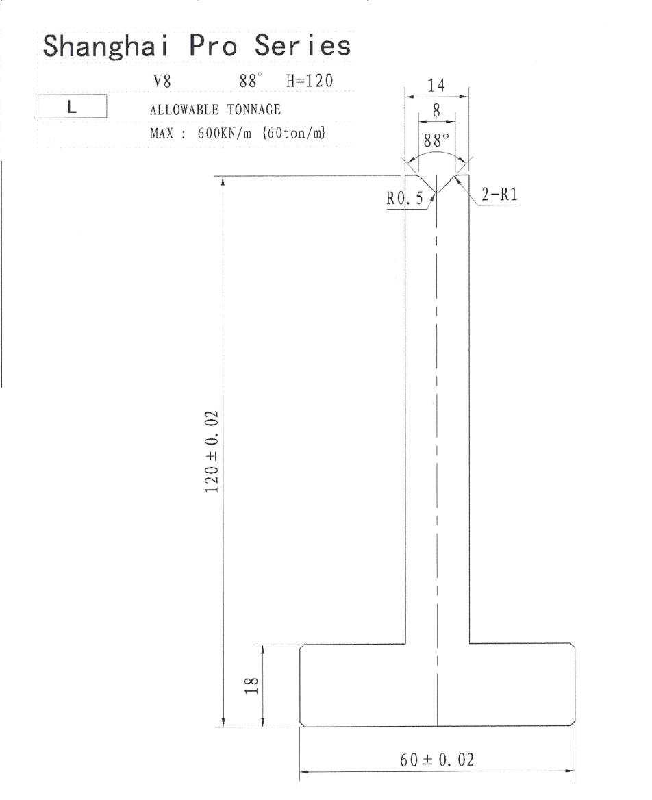 Shanghai Pro LM Pillar 120 x 8 x 88 Segmented