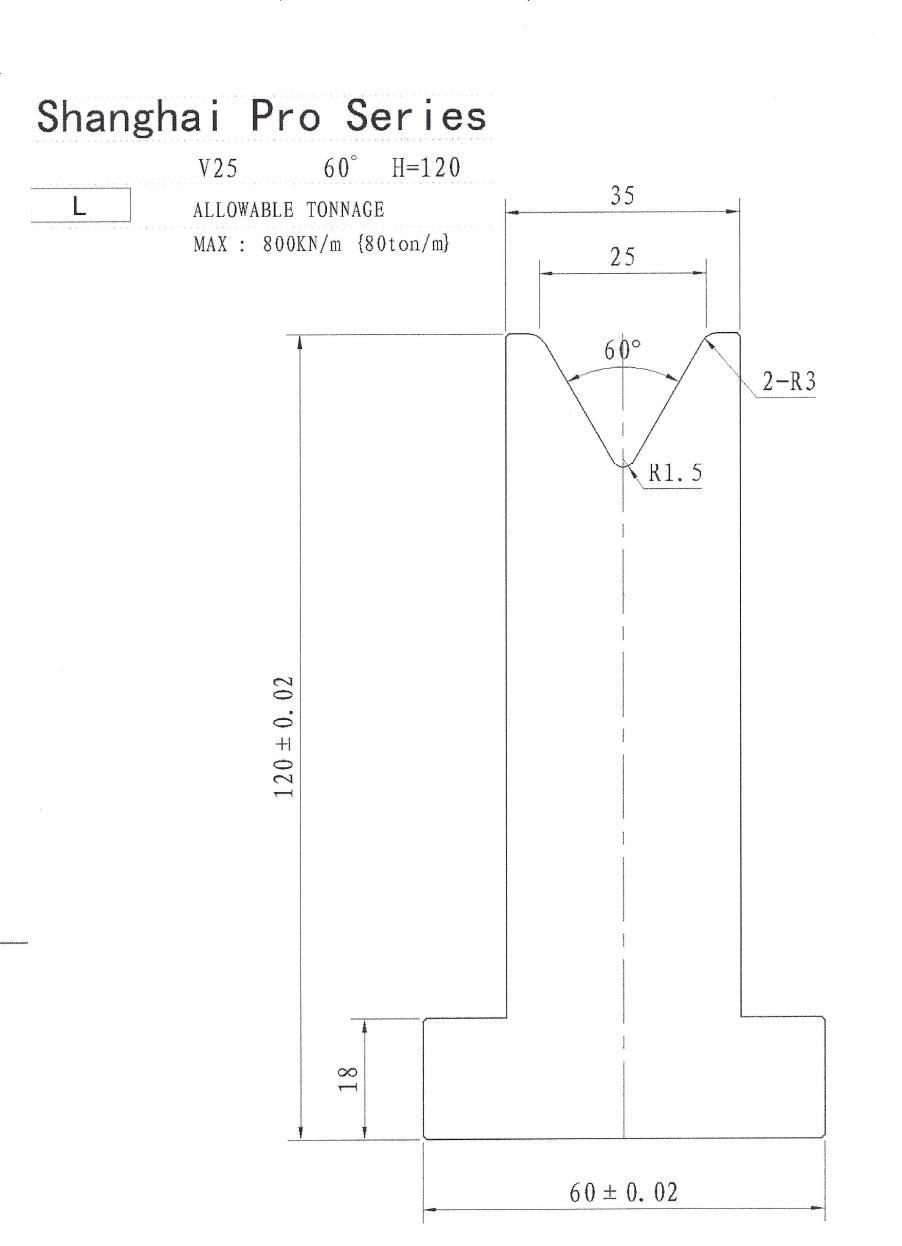 SHANGHAI PRO LM PILLAR 120 X 25 X 60 SEGMENTED